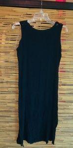 Sag Harbor Black Creped Summer Dress Sz 14 Plus